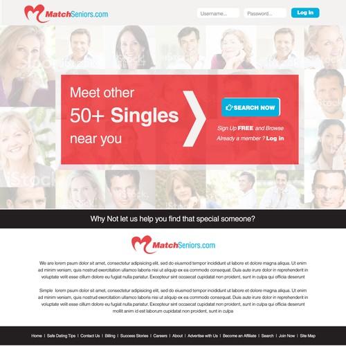 Create a winning design for Matchseniors.com
