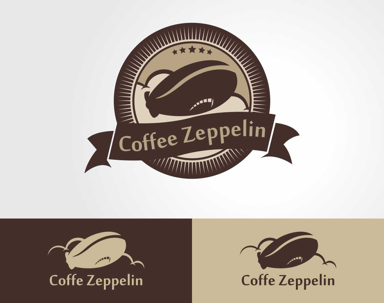 Create a stylised zeppelin as a coffee bean or vice versa!