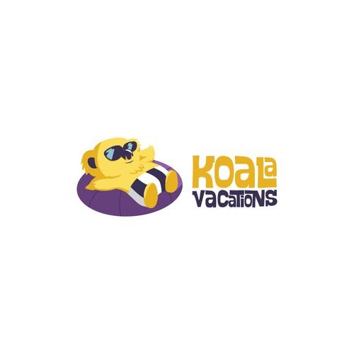 Fun Koala Design For A Travel Agency