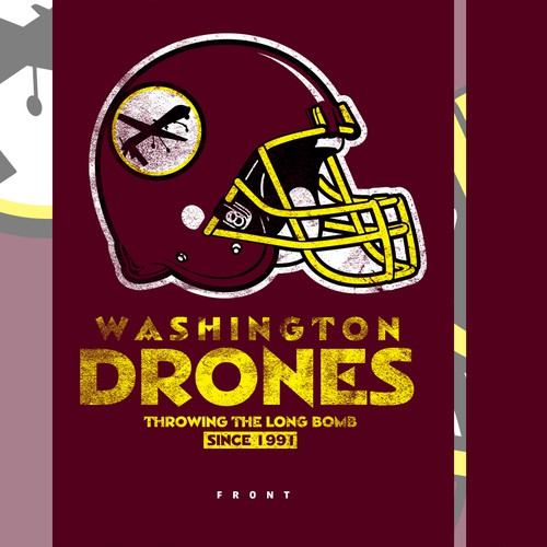 Parody Shirt to rename the Washington Redskins to the Washington Drones