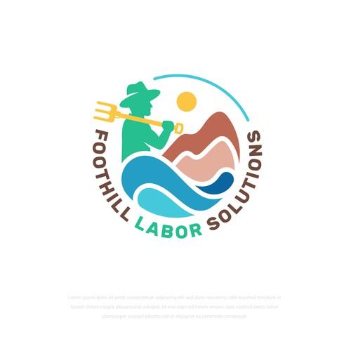 Agriculture Labor Solution Logo Design