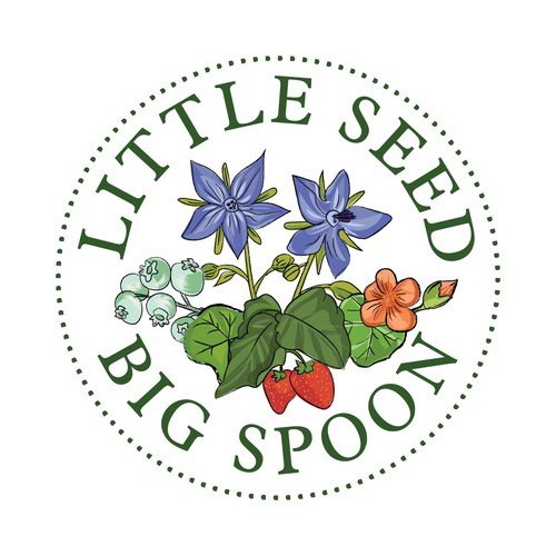 Logo design for Little Seed, Big Spoon