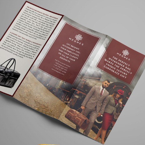 Trifold Flyer for Luxury Bags