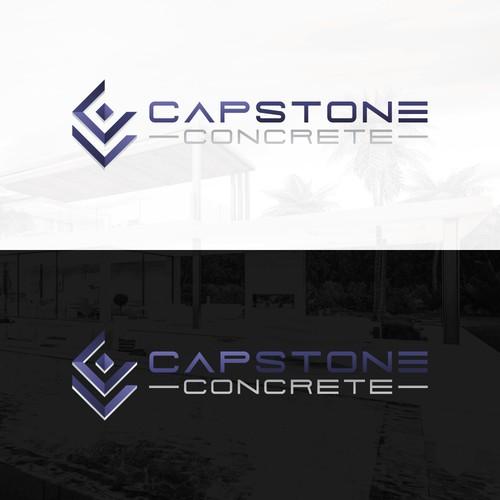 Modern logo concept for Capstone Concrete