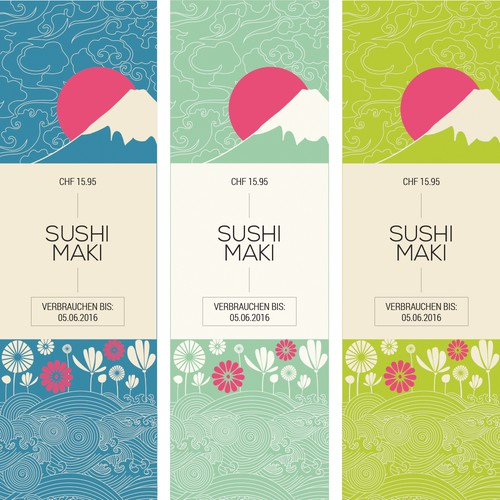 Concept sleeve for Sushi Maki.