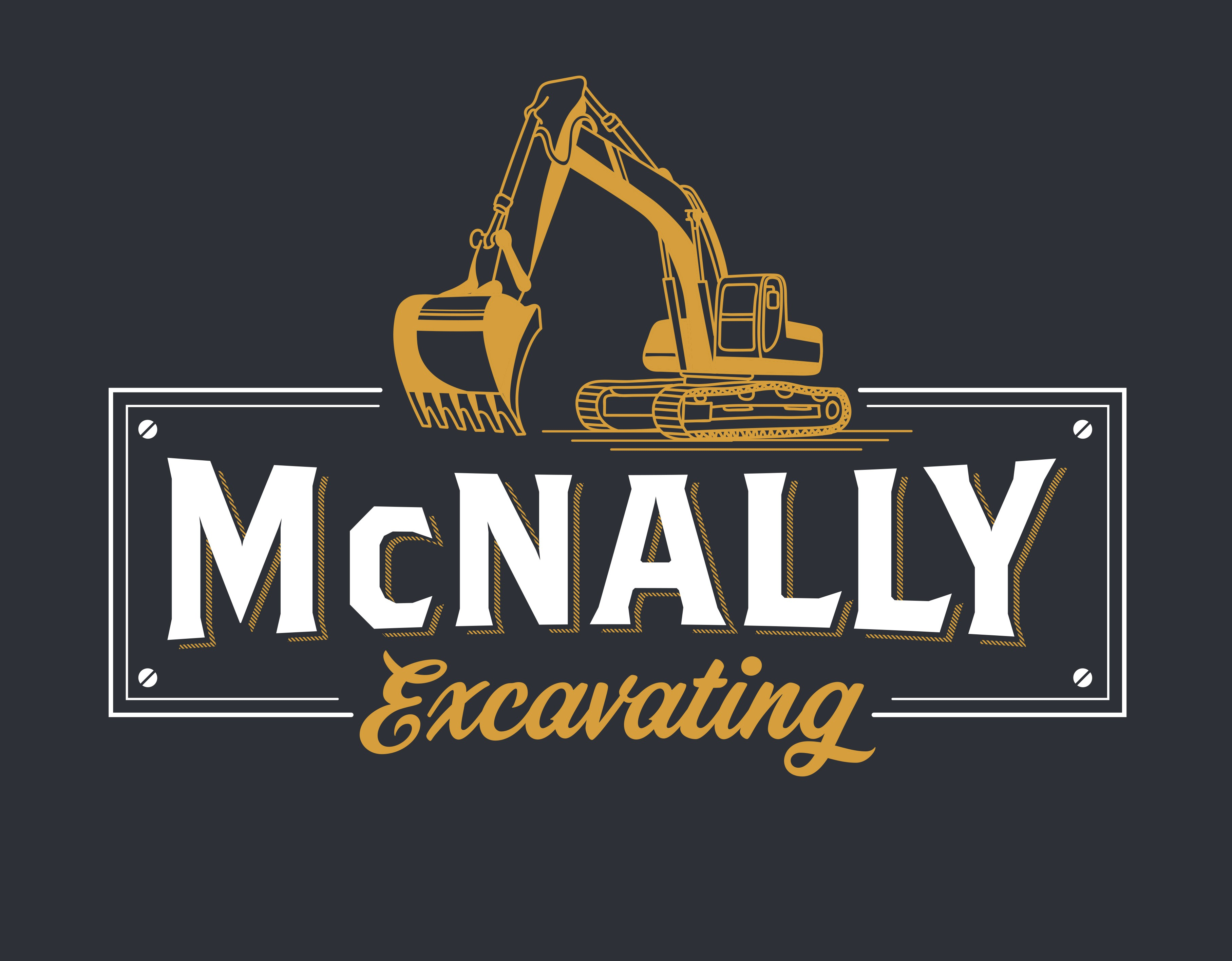 Create a Vintage T-Shirt Design for an Excavating (Heavy Equipment) Company