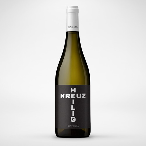 Minimalistic and typographic wine label