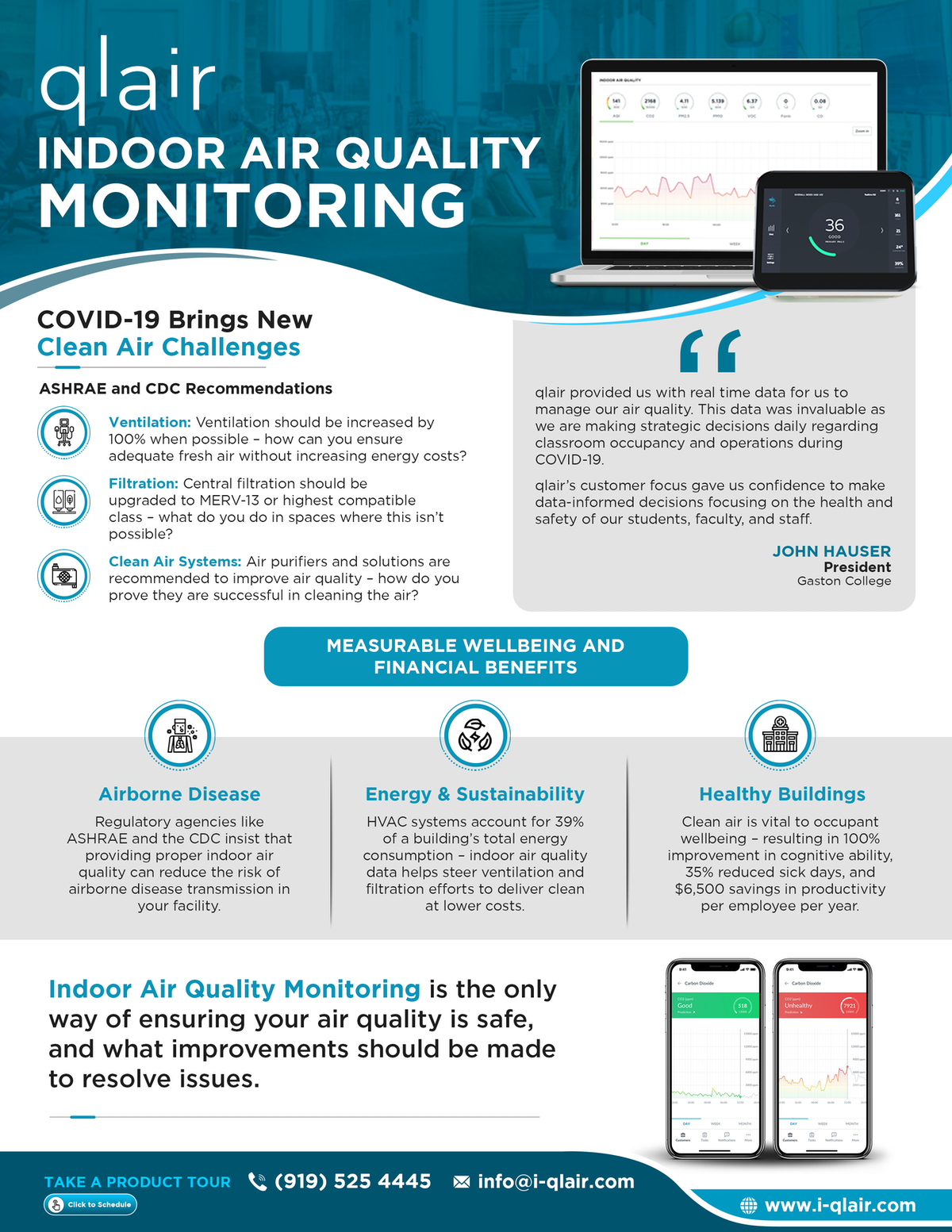 2-Pager Document for Indoor Air Quality Monitoring