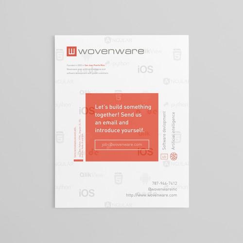 Wovenware flyer