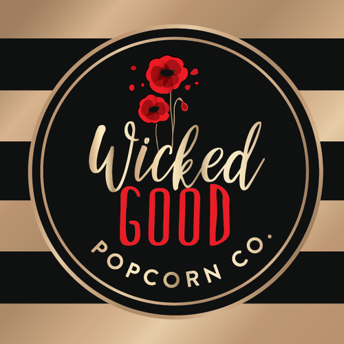Logo for popcorn company