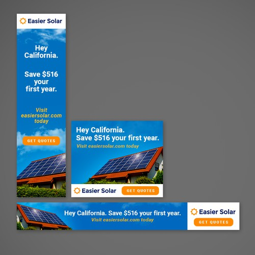 Simple Banner ads for a solar company