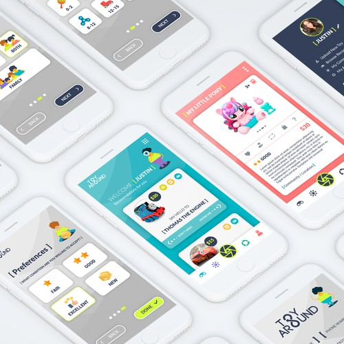 App design for a new toy swap app