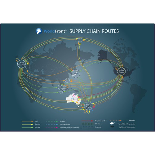 Trade routes map