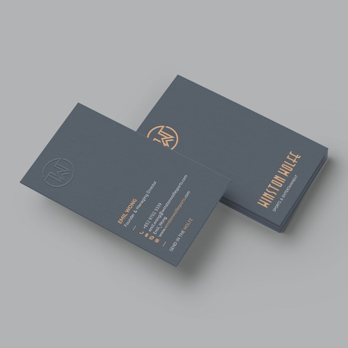 Elegant business card for boutique sports agency