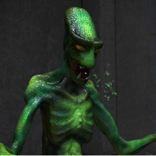 Reptilian creature concept