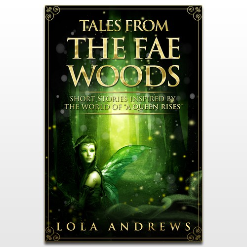 eBook cover for fantasy short story collection (dark fairytales feel)