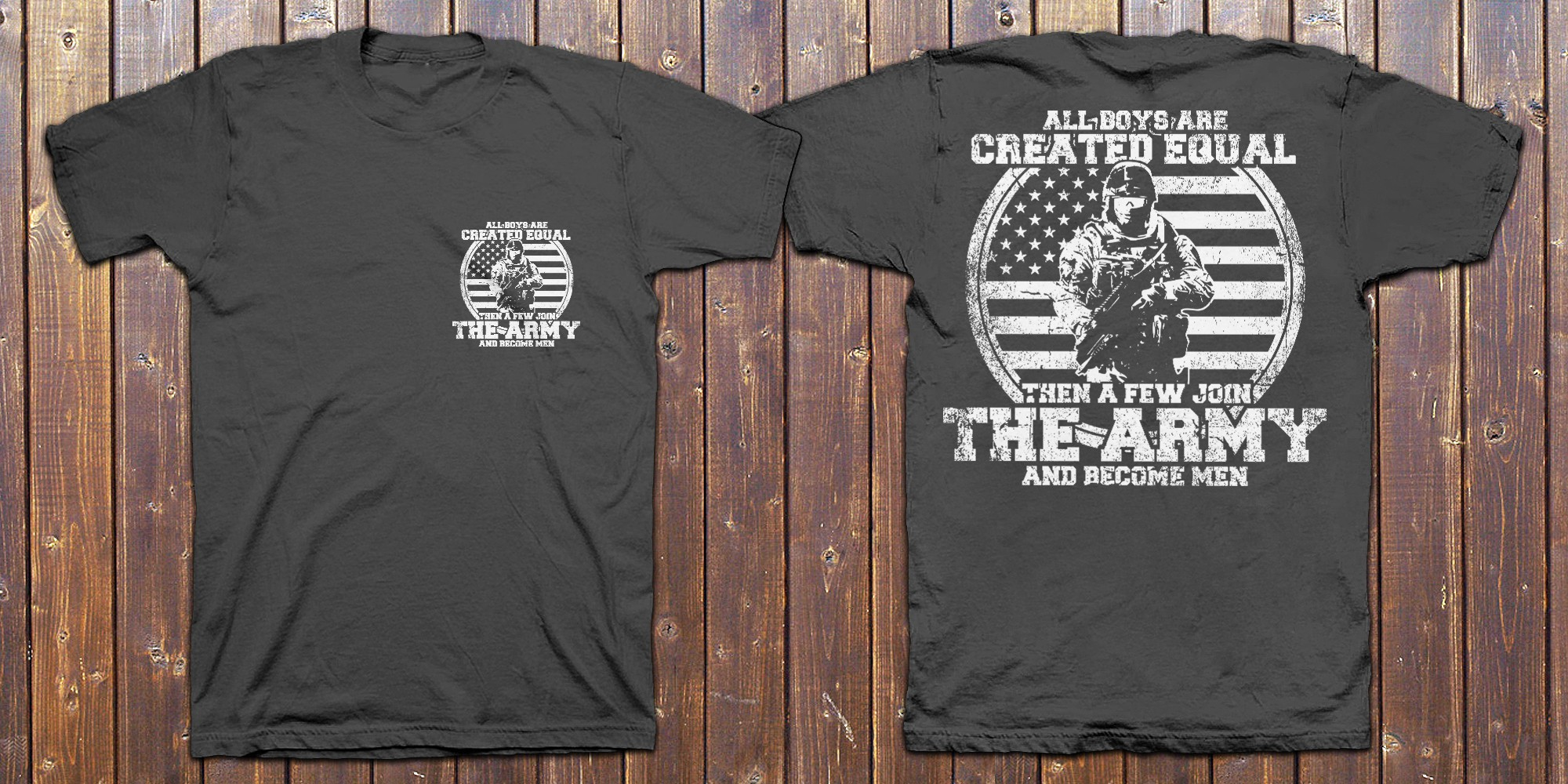 Create T-shirt design for Army shirt