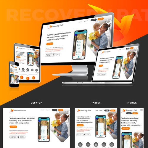 Recovery Path Landing page