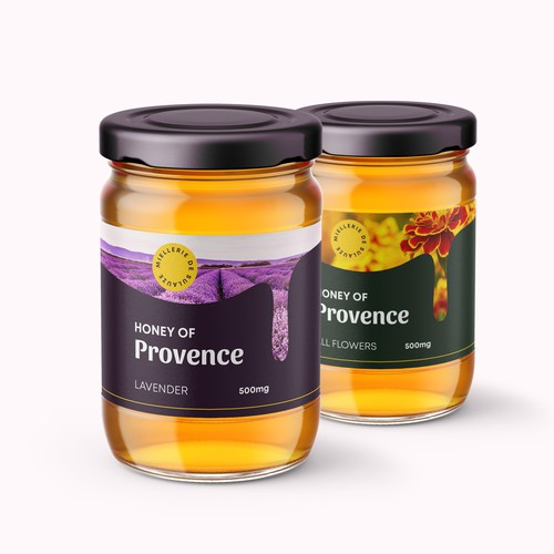 Product packaging/label design for a honey manufacturer
