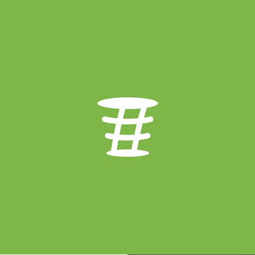 Clean logo concept for Trending Bin