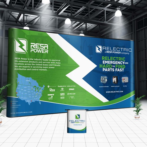 Relectric Power Trade show booth