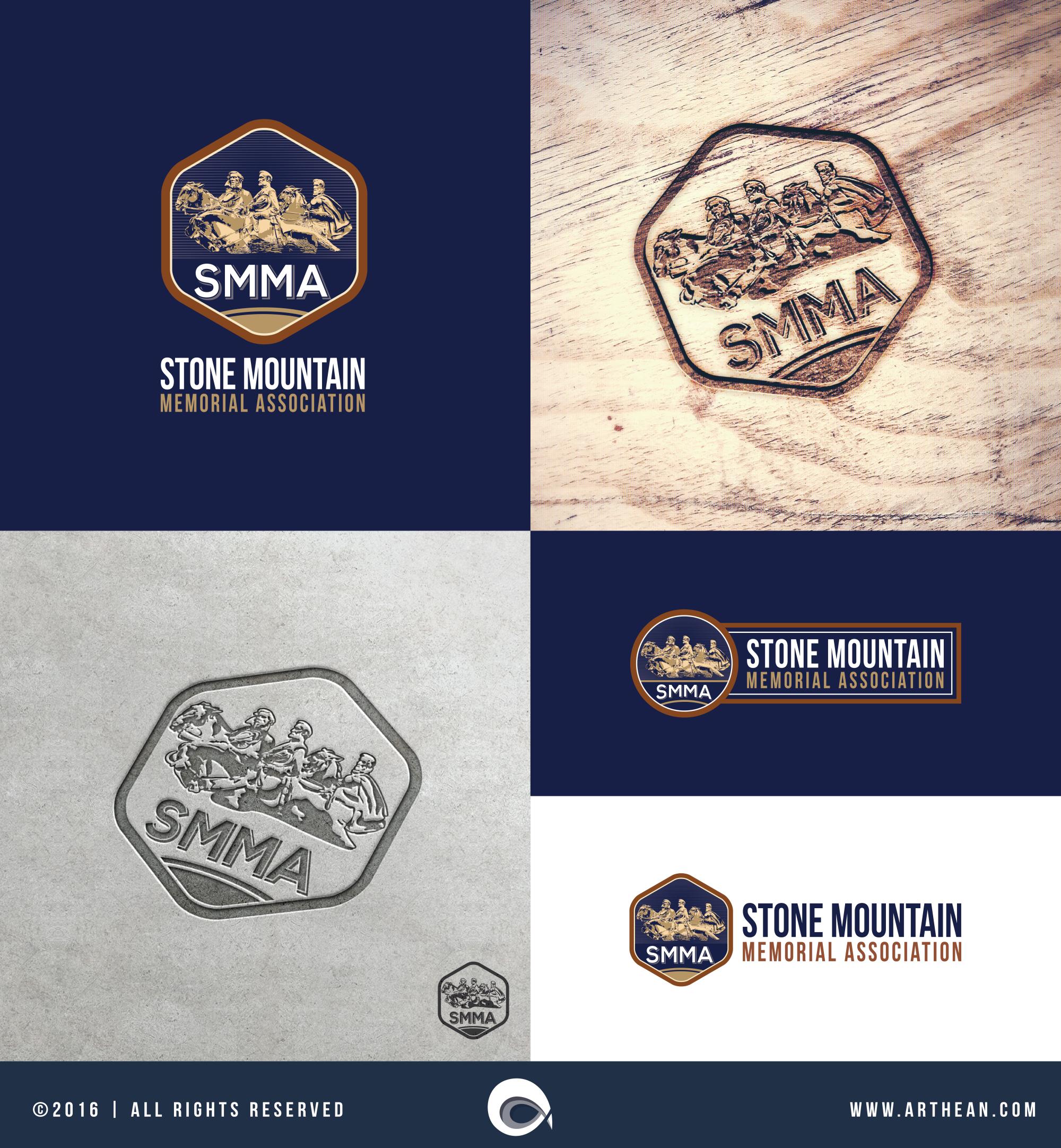 Stone Mountain Logo for engraving
