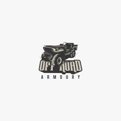 logo concept for off road armoury
