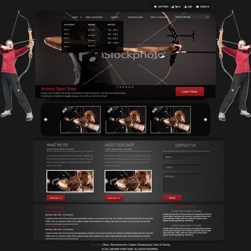 Archery Sport Shop Website Design: (FlyAr1)