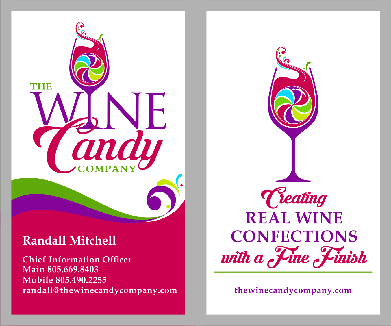 The Wine Candy Company business card