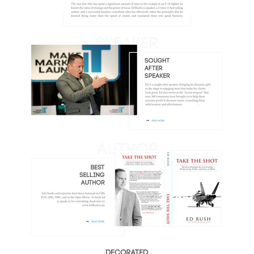 Web Design for Ed Rush