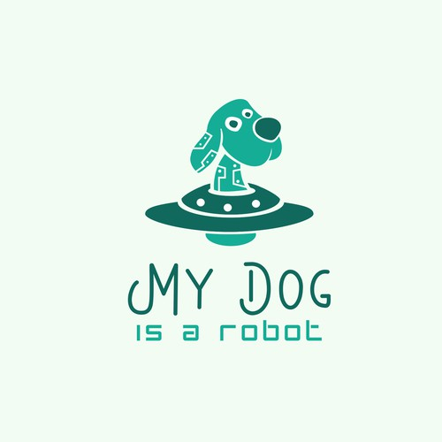 "Robotic Dog logo for ""My Dog is a Robot"" company"