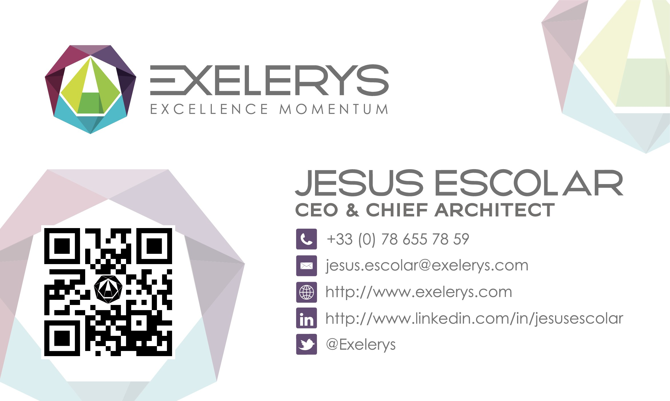 Light changes to the business cards