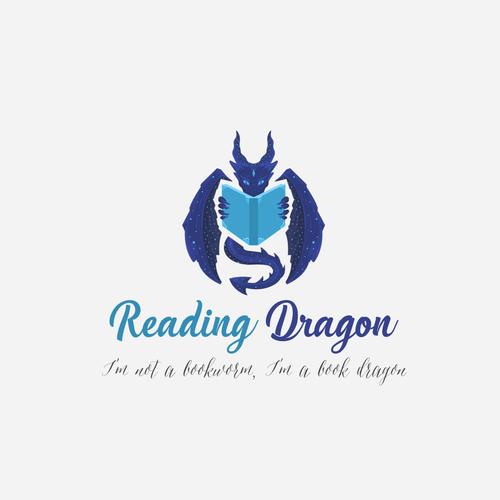 """Logo concept for """"Reading Dragon"""""""