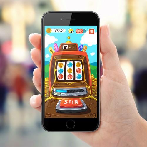 Concept UI for slot game app
