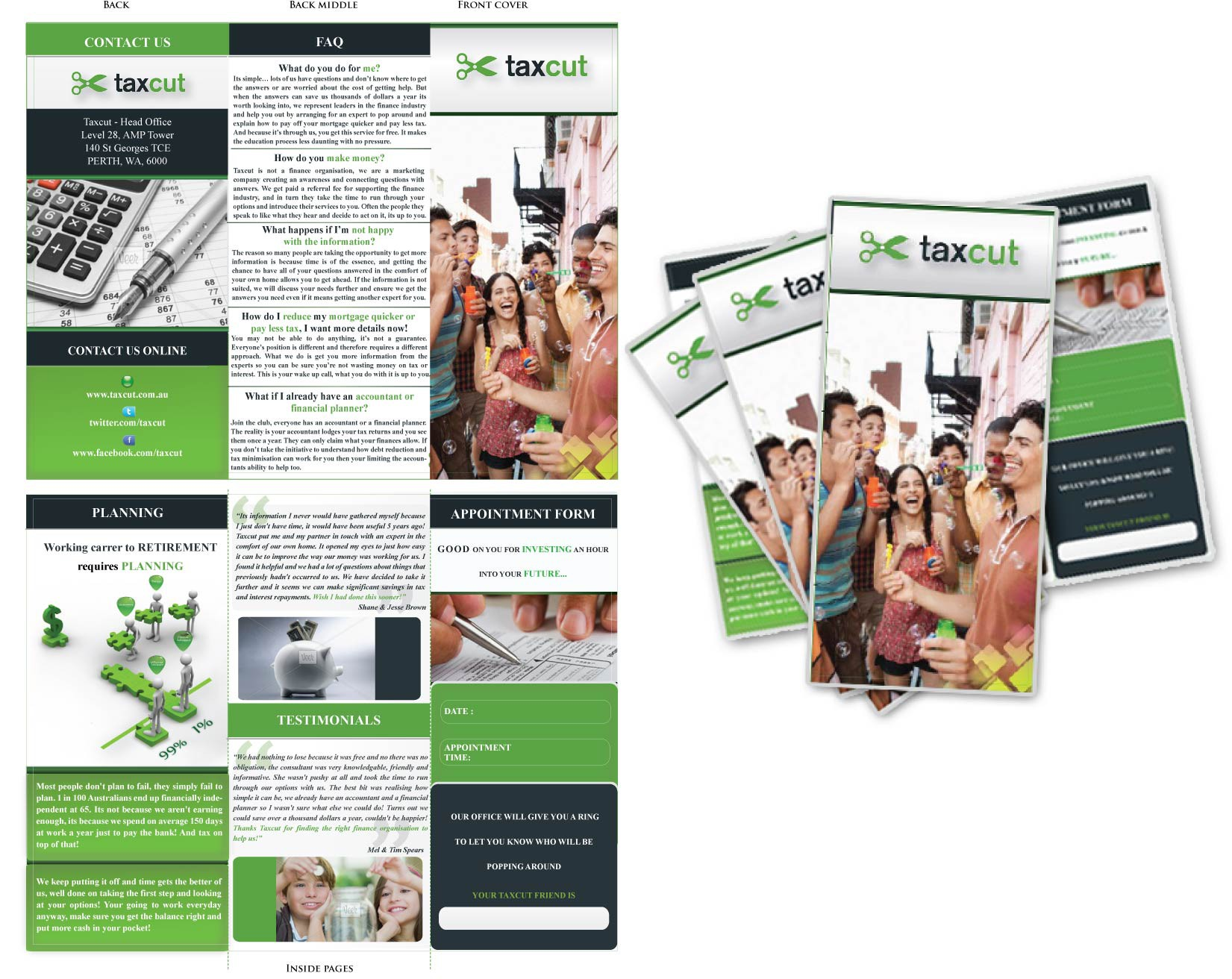 Create the next print or packaging design for taxcut