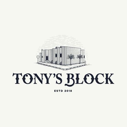 logo for tony's block