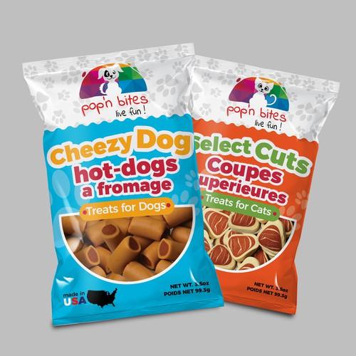 Dog Treat Packaging design
