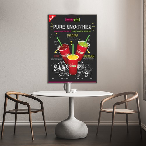 Pure smoothie poster