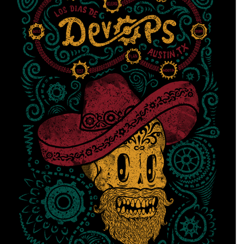 Los Dias de DevOps, rock a calavera and sugar skull theme