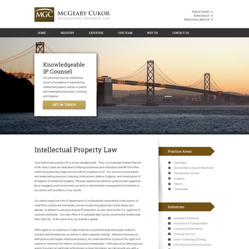 Web Design For McGeary Cukor