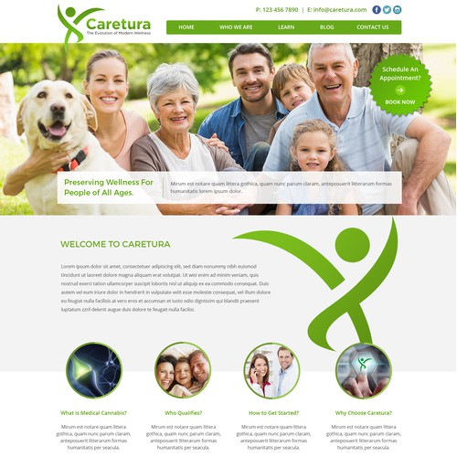 Web Design for Caretura - Medical Cannabis Pharmaceutical Company