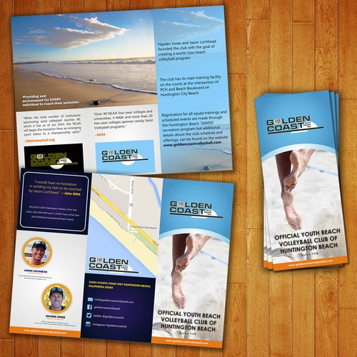 Can you create a amazing brochure that is going to make kids want to play beach volleyball?