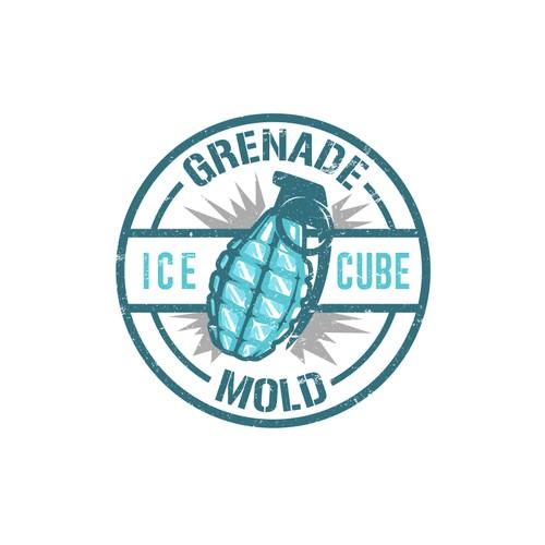 Grenade Ice Cube Mold logo