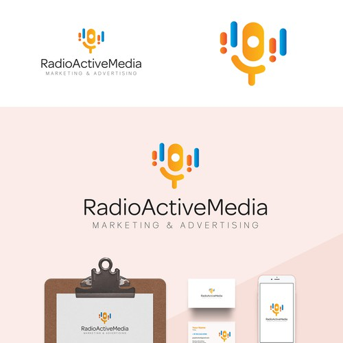 Logo Concept for Marketing Radio