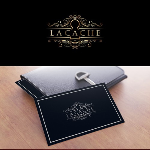 Elegant and luxurious logo for online start up selling gifts and homewares