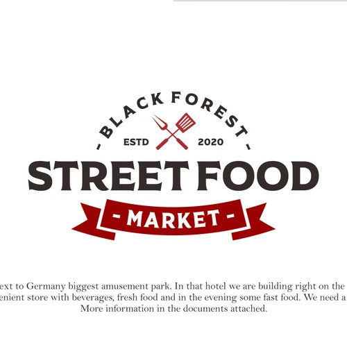 Street Food Market Logo