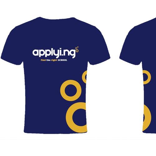 Modern T-shirt design for an innovative school web application