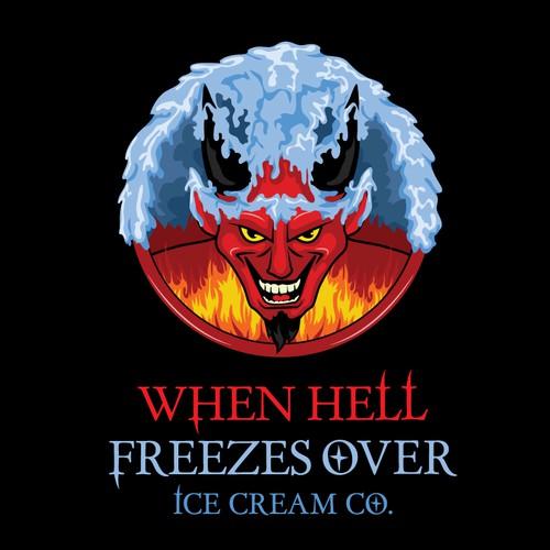 Design a fun, devilish logo for a unique food product for adults