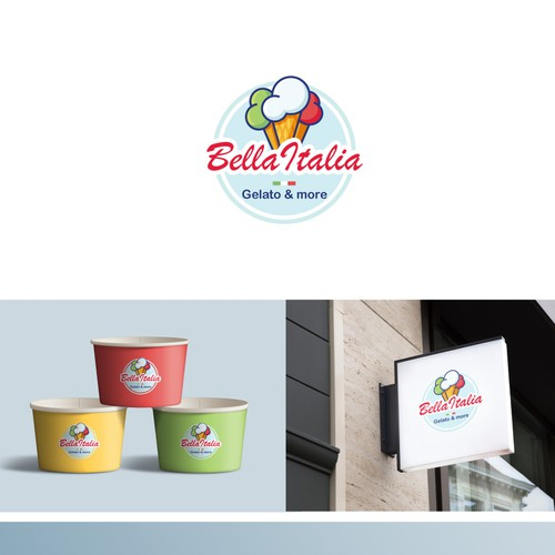 Catching logo needed for Italian ice cream shop