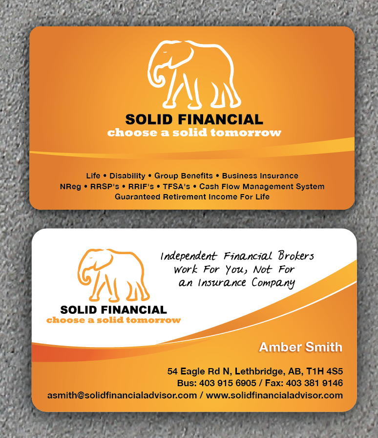 New stationery wanted for SOLID FINANCIAL
